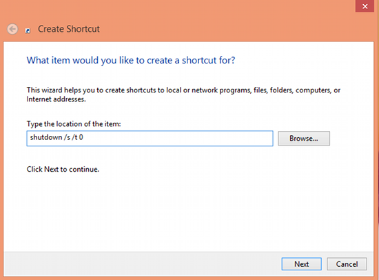 How To Shutdown how to Windows 8 With A Single Click