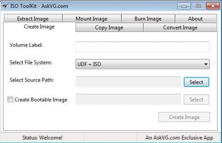 ISO Toolkit to burn ISO image files