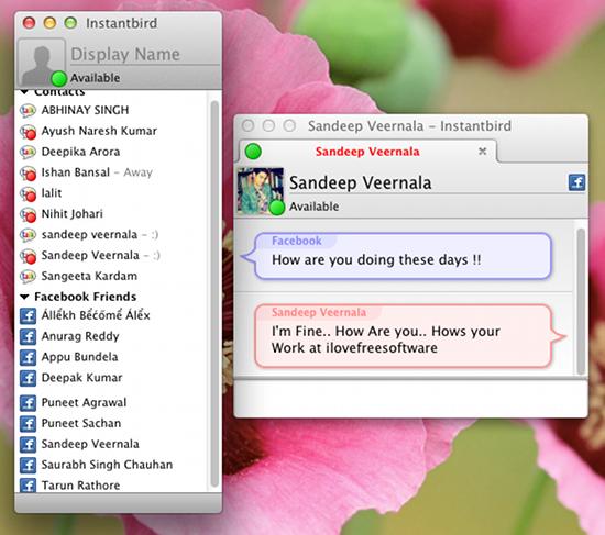 Instantbird mac screen shot