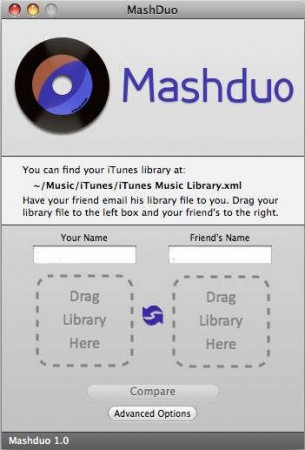 Mashduo iTunes Library comparison tool