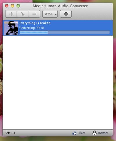 MediaHuman Audio Converter screenshot