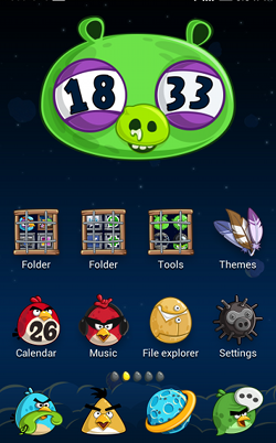 MiHome Launcher screenshot themes