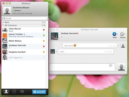 Nimbuzz screen shot