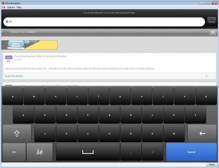 Opera Mini PC version 6.5 website opened