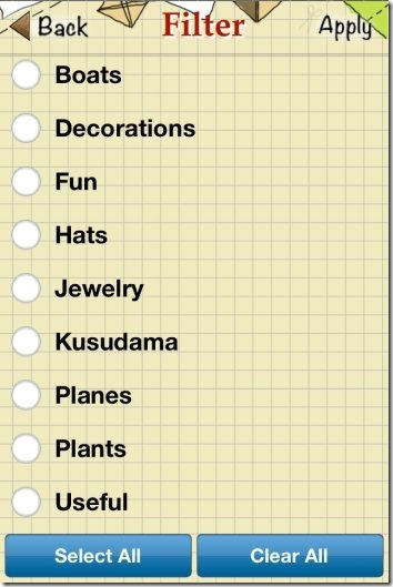 Origami Instructions Categories