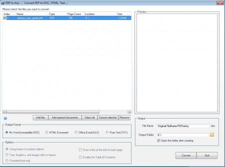 PDFCool conversion PDF files