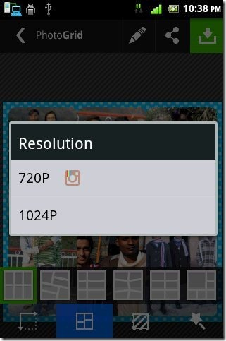 Photo Grid Resolution