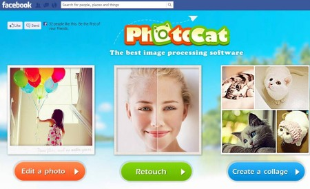 PhotoCat free Facebook photo editing app