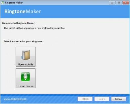Ringtone Maker default window