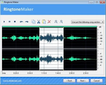 Ringtone Maker editing audio