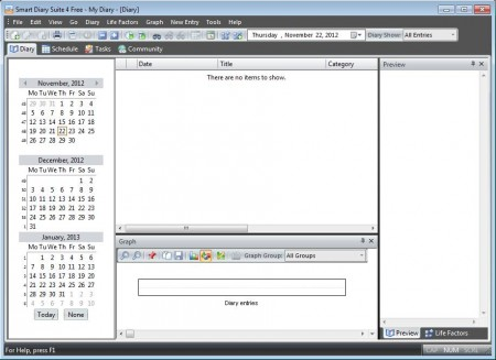 Smart Diary Suite free Journal software
