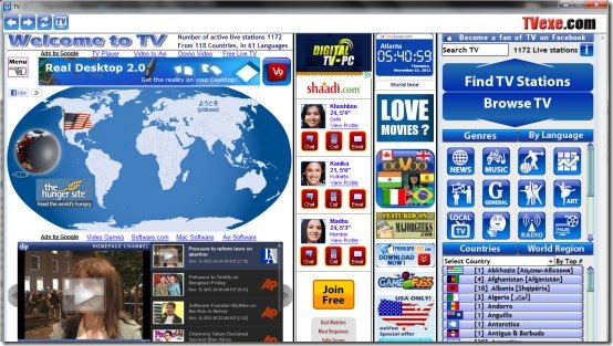 TV 001 free internet tv software