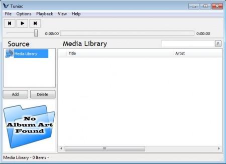 Tunaic free media player default window