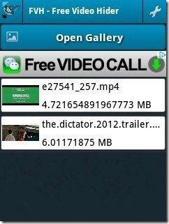 Video Hider app