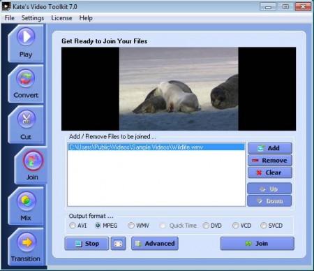 Video Tookit joining videos