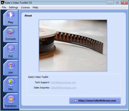 Video Toolkit default window