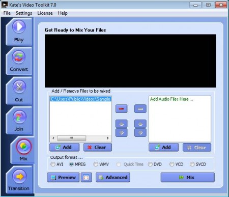 Video Toolkit mix