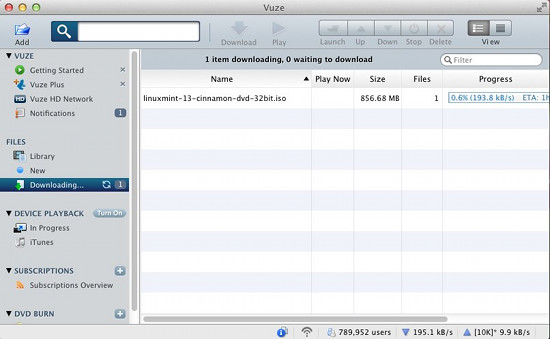 vuze for mac screenshot