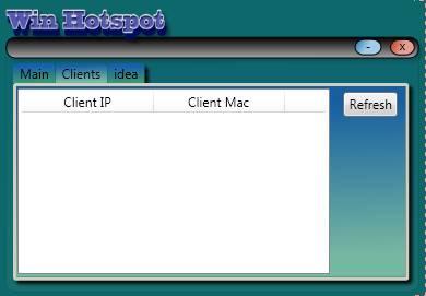 Win Hotspot client list