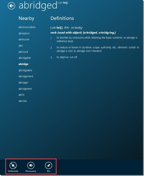 Windows 8 Dictionary