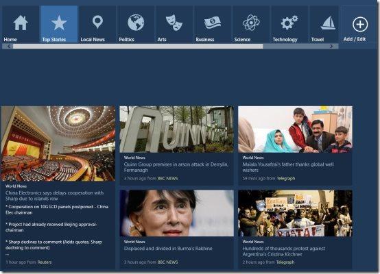 Windows 8 News Aggregator App
