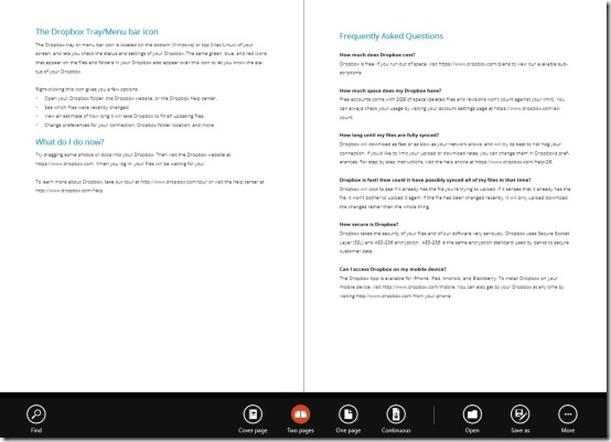 Windows 8 PDF Reader
