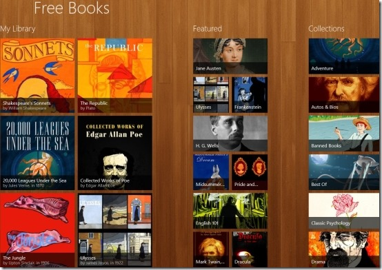 Windows 8 eBook app