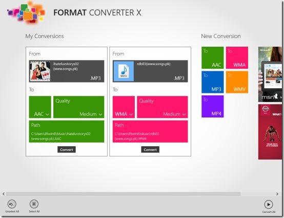 Windows 8 media format converter