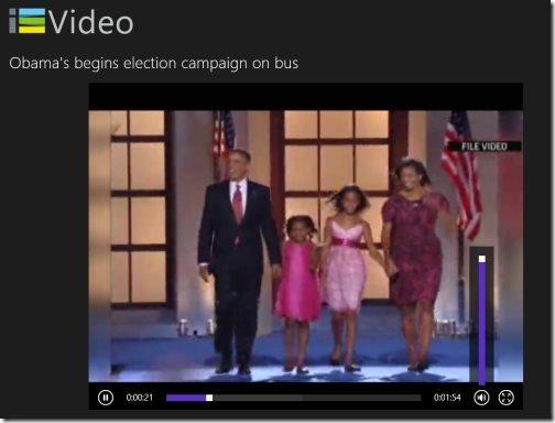 Windows 8 video streaming app