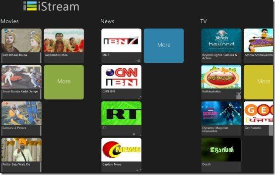 Windows 8 video streaming