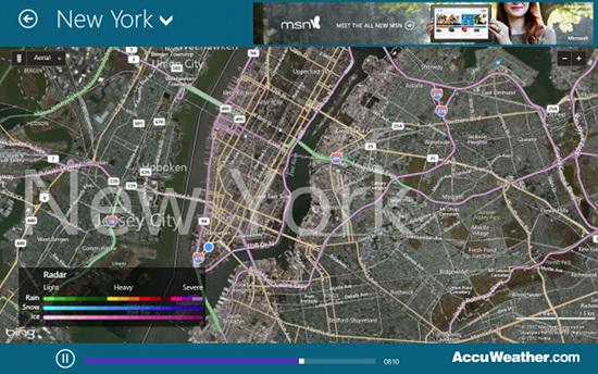 accuweather windows 8 maps view