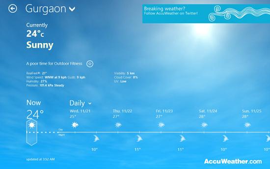 accuweather windows 8 screenshot