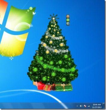 animated desktop christmas tree interface
