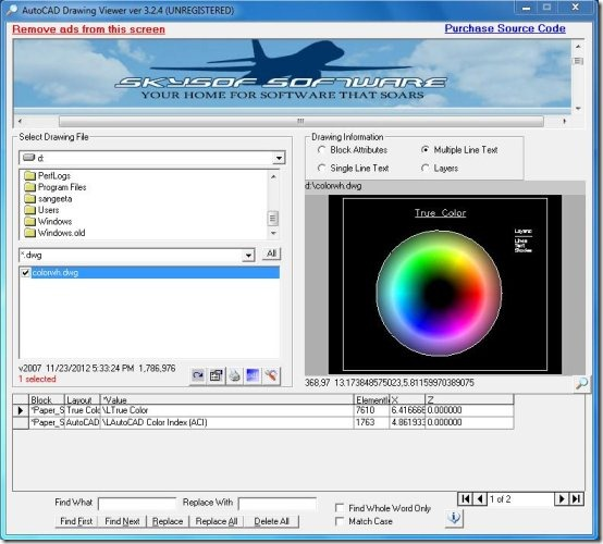 autocad drawing viewer interface