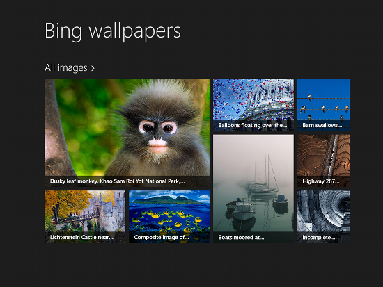 bing wallaper for windows8