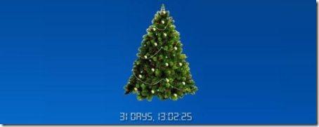 christmas countdown clock interface