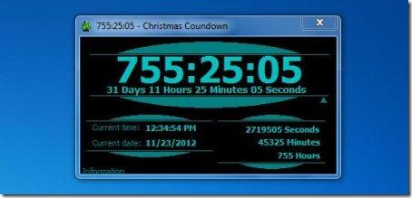 countdown clock interface