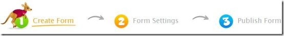 create an online form step