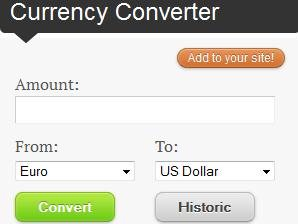 currency converter layout