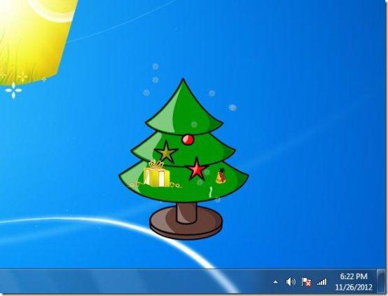 desktop christmas tree gadget interface