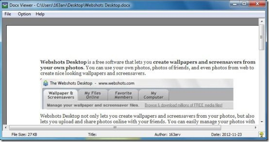 docx viewer interface