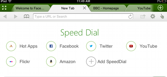 dolphin browser ipad speed dial