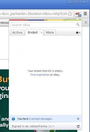 eBay Anywhere Chrome ended