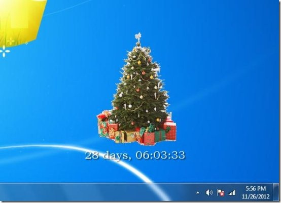 free christmas tree respect software interface