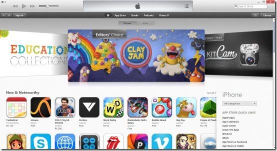 itunes 11 itunes store interface screenshot