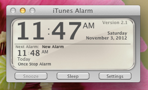 alarm clock for mac itunes alarm