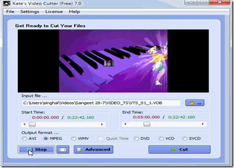 Free video cutter_img1