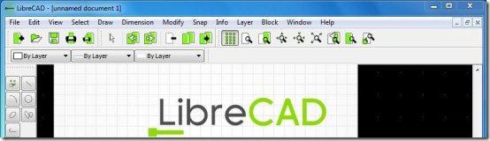 libreCAD interface