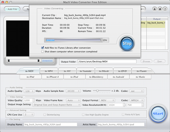 macx video converter free edition review