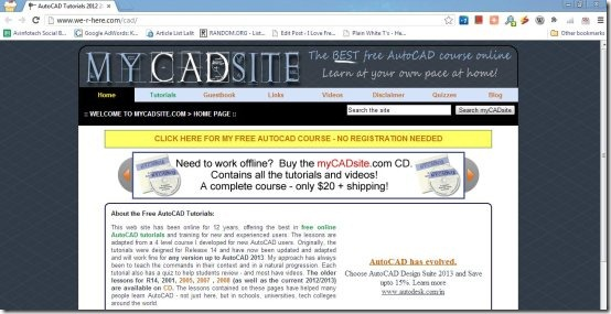 my cad site interface